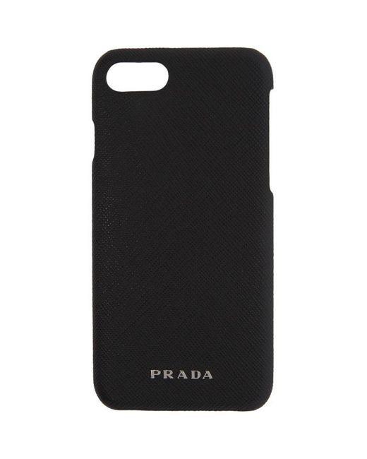 Prada   Black Saffiano Iphone 7 Case   Lyst