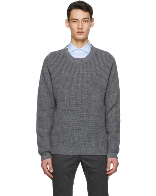 Tiger Of Sweden Gray Grey Puffin Sweater for men