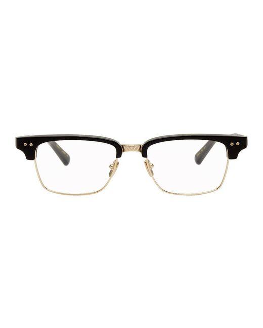 メンズ Dita Eyewear ブラック And ゴールド Statesman-three メガネ Black