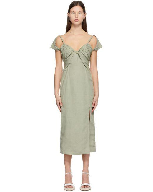 Jacquemus グリーン La Robe Tovallo ドレス Green