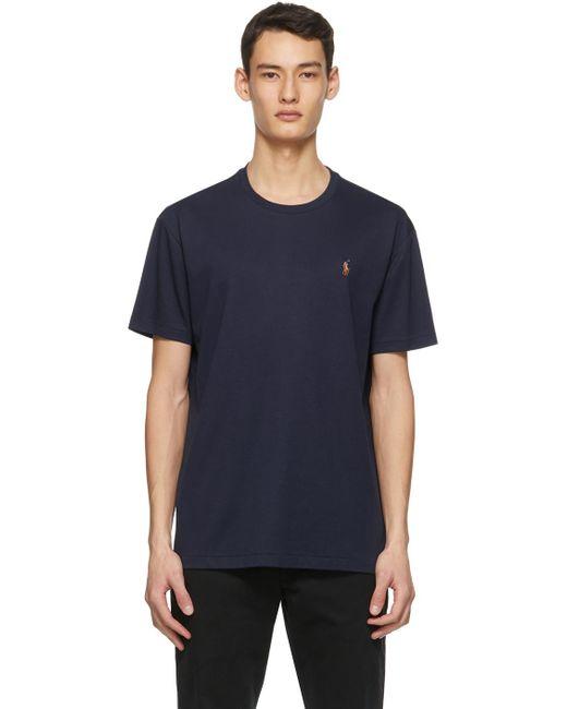 メンズ Ralph Lauren ネイビー クルーネック T シャツ Blue