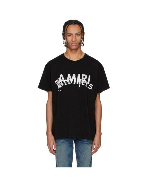 メンズ Amiri ブラック Brothers T シャツ Black