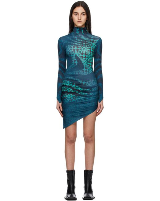 Maisie Wilen ブルー Orbit City ドレス Blue