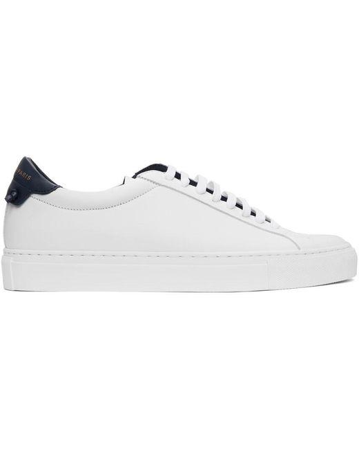 メンズ Givenchy ホワイト & ネイビー Urban Knots スニーカー White