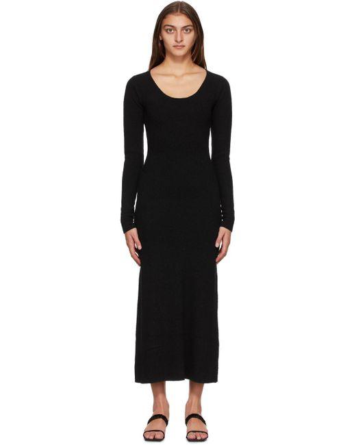 Totême  ブラック シルク Molveno ドレス Black