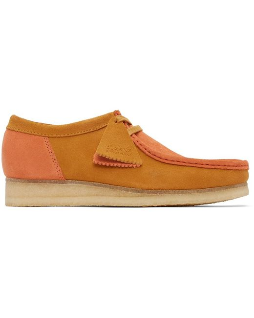 メンズ Clarks オレンジ ワラビー Orange