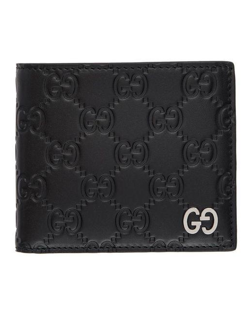 Gucci Black Signature Wallet for men