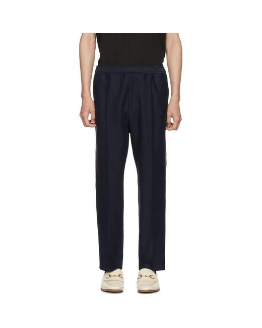 Gucci - Blue ネイビー ロゴ テープ ラウンジ パンツ for Men - Lyst