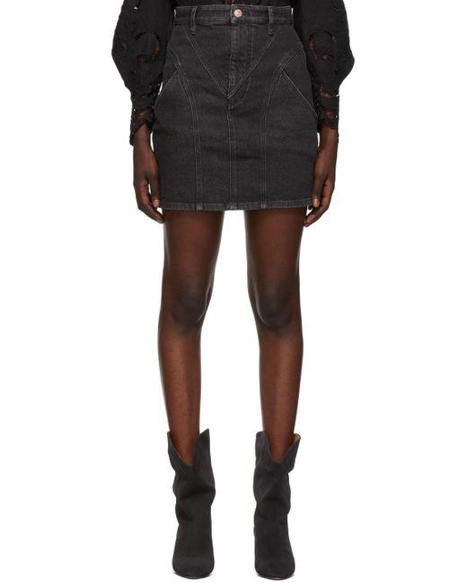 Isabel Marant ブラック ミニスカート Black