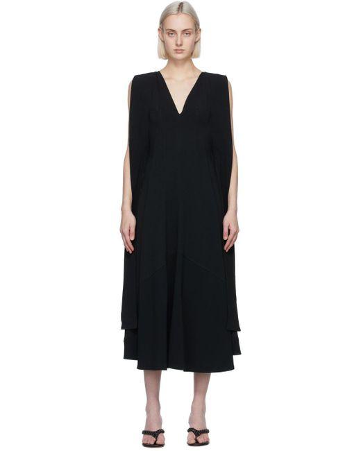 Victoria Beckham ブラック Double V フレア ドレス Black
