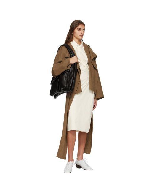 Lemaire オフホワイト ポプリン ツイスト ドレス White