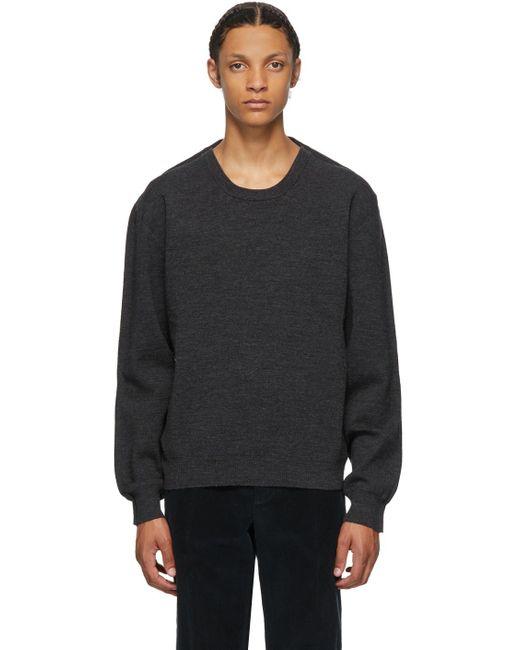 メンズ Maison Margiela グレー ウール セーター Gray