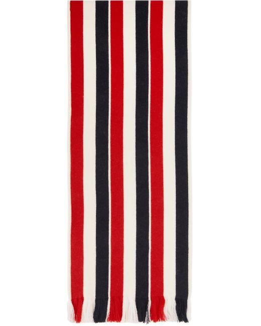 メンズ Thom Browne ホワイト ウール ダブルフェイス Rwb マフラー Multicolor