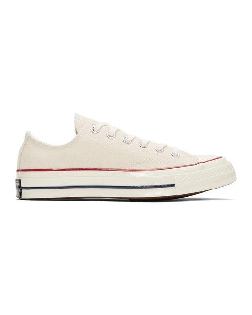 メンズ Converse オフホワイト Chuck 70 ロー スニーカー White