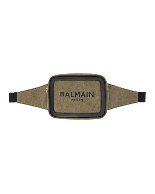 メンズ Balmain カーキ B-army 20 バム バッグ Multicolor