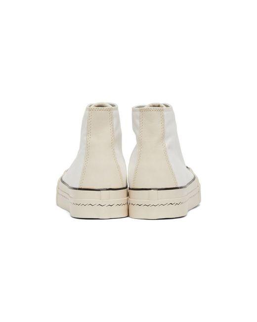 メンズ Visvim ホワイト Skagway ハイトップ スニーカー White
