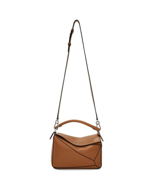 Loewe - Brown Women's Small Puzzle Leather Bag - Black - Lyst