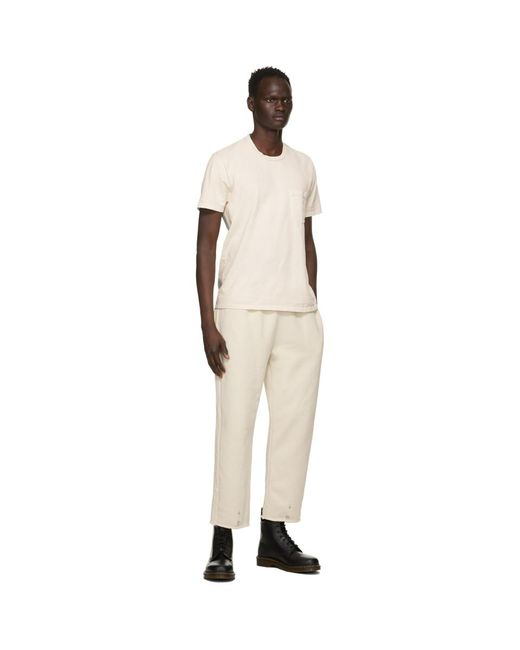 メンズ Les Tien オフホワイト クラシック ポケット T シャツ White
