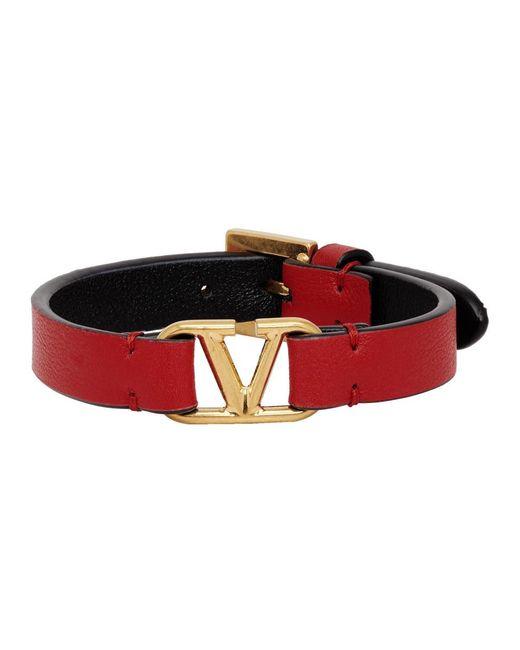 Valentino Red Valentino Garavani Vlogo Calfskin Bracelet