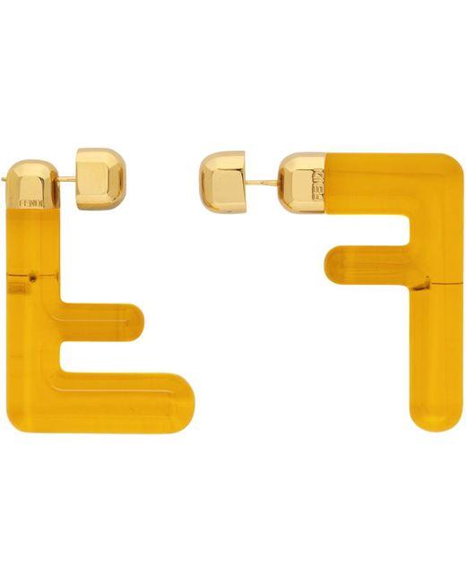 Fendi Ff ピアス Yellow