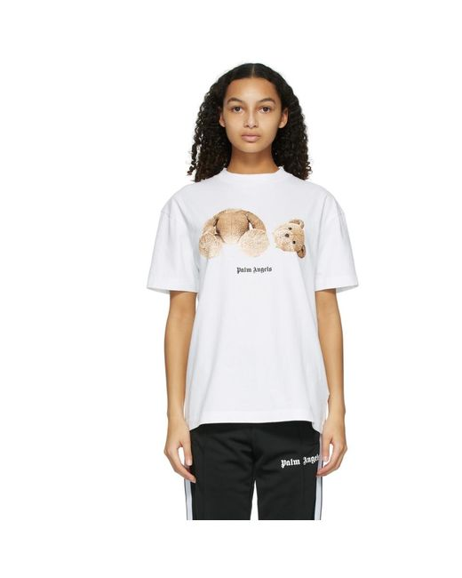 Palm Angels ホワイト Bear T シャツ White