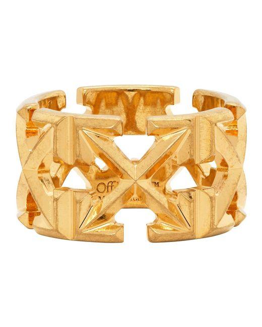 Off-White c/o Virgil Abloh Metallic Gold Arrows Ring
