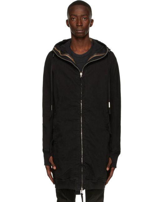 メンズ Boris Bidjan Saberi ブラック Hybrid Zipper 3.1 コート Black