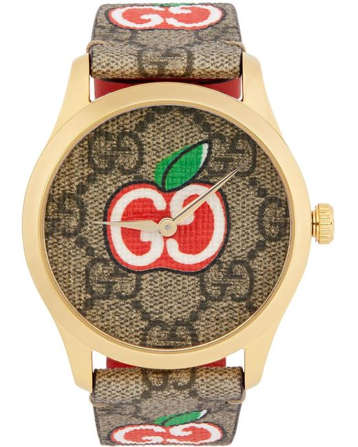 Gucci ゴールド & ブラウン Valentine's Day G-timeless ウォッチ Brown