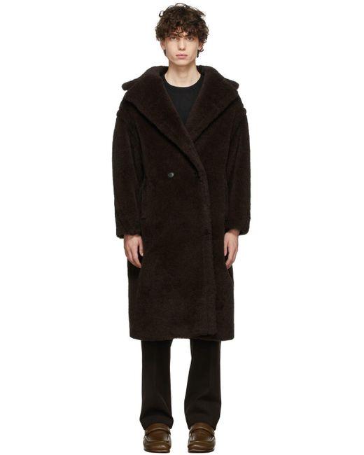 Max Mara Black Brown Teddy Bear Icon Coat for men