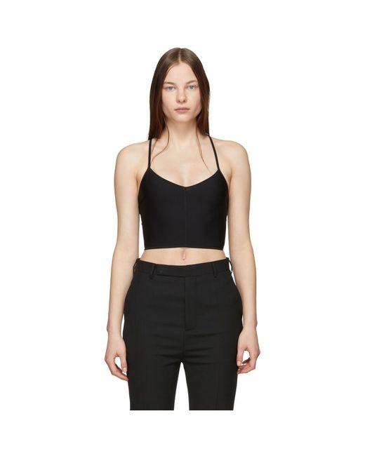 258495ad016 Ann Demeulemeester - Black La Fille Do Edition Jersey Bralette - Lyst ...
