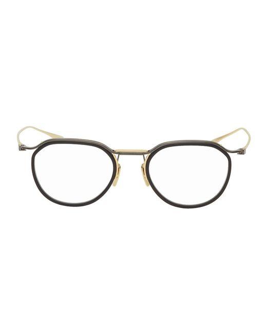 メンズ Dita Eyewear ブラック And ゴールド Dtx131 メガネ Black
