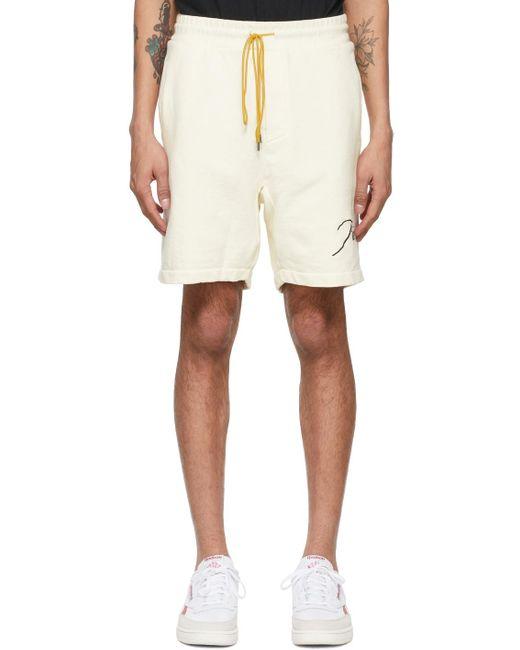 メンズ Rhude オフホワイト ロゴ スウェット ショーツ White