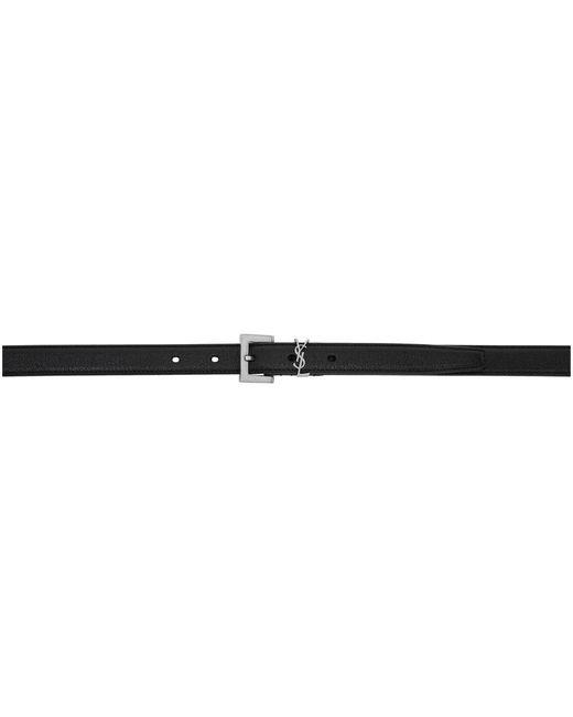 メンズ Saint Laurent ブラック モノグラム ベルト Black