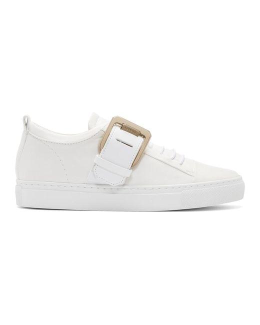 Lanvin - White Nappa Square Sneakers - Lyst