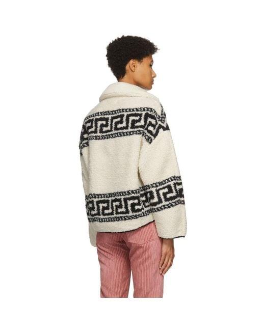 Étoile Isabel Marant ホワイト Garner ハーフジップ セーター Multicolor