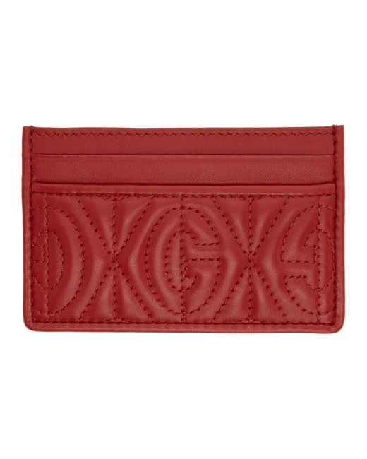 Gucci Red G Rhombus Card Holder for men