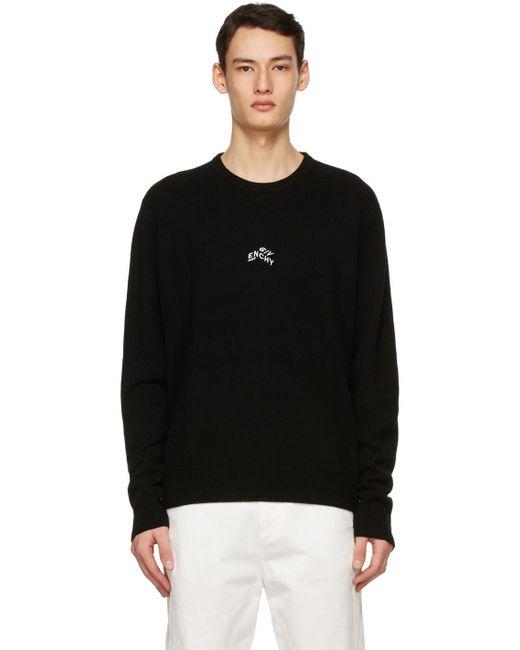 メンズ Givenchy ブラック Refracted セーター Black
