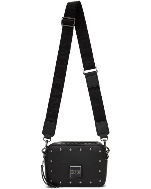 Versace Jeans ブラック フェイクレザー カメラ バッグ Black