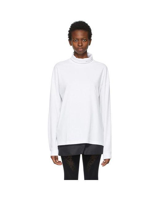 1017 ALYX 9SM ホワイト Visual ロゴ タートルネック White