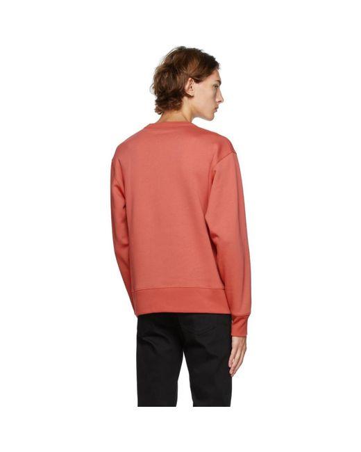 メンズ Acne レッド Fairview パッチ スウェットシャツ Red