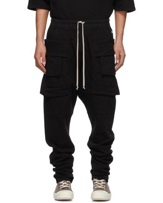 メンズ Rick Owens Drkshdw ブラック Creatch カーゴ パンツ Black