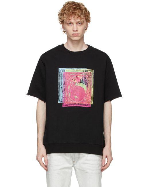 メンズ Maison Margiela ブラック Stamps T シャツ Black