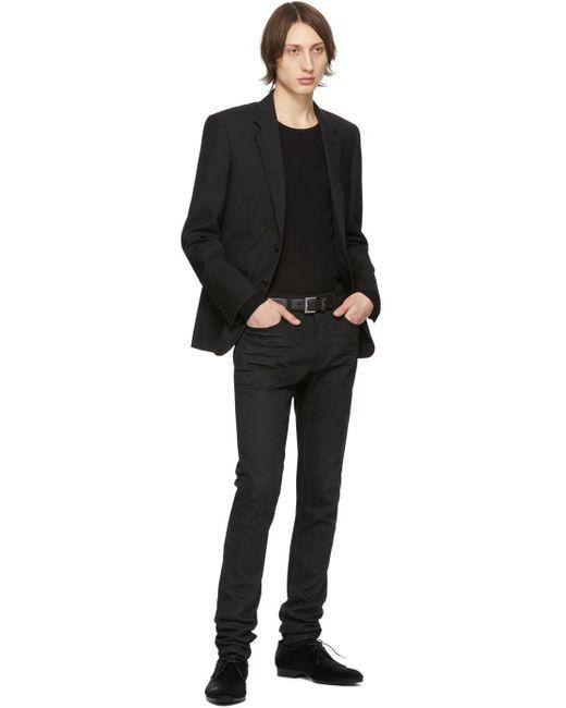 Ceinture noire Poncho Lux Saint Laurent pour homme en coloris Black