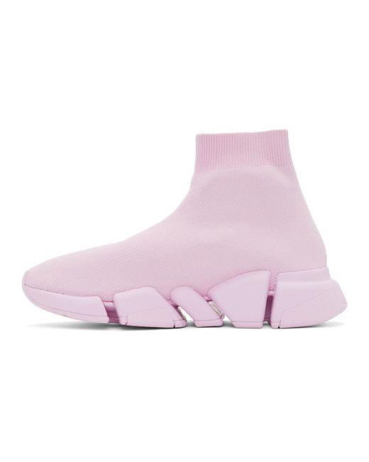 Balenciaga ピンク Speed 2.0 スニーカー Pink