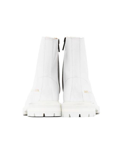 Common Projects ホワイト ラグ ソール Combat ブーツ White