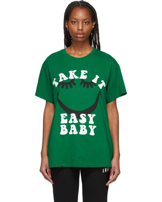 Amiri Green A Love Movement Edition 'take It Easy' T-shirt