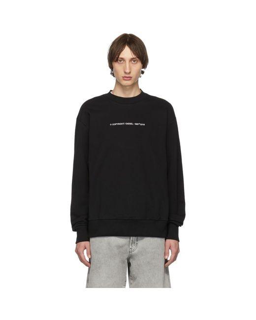 メンズ DIESEL ブラック S-bay-copy スウェットシャツ Black