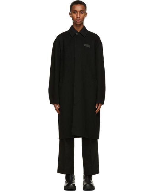 メンズ Valentino ブラック Vltn ピーコート Black