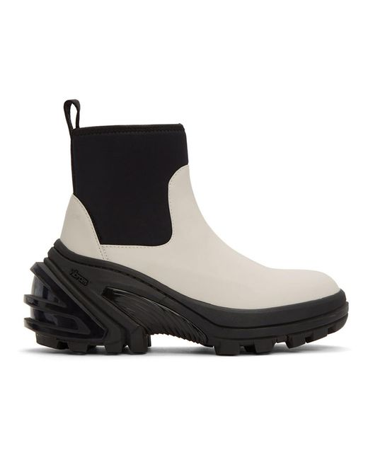 メンズ 1017 ALYX 9SM オフホワイト ラバー ブーツ Black