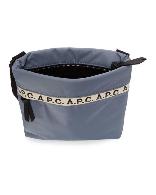 メンズ A.P.C. ブルー リピート メッセンジャー バッグ Blue